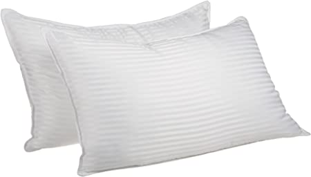 Superior Premium Down Alternative Pillows Pillow Set Of 2 Hypoallergenic Medium Density Bed Pillows King Size 20 X 36 Striped Home Kitchen Amazon Com