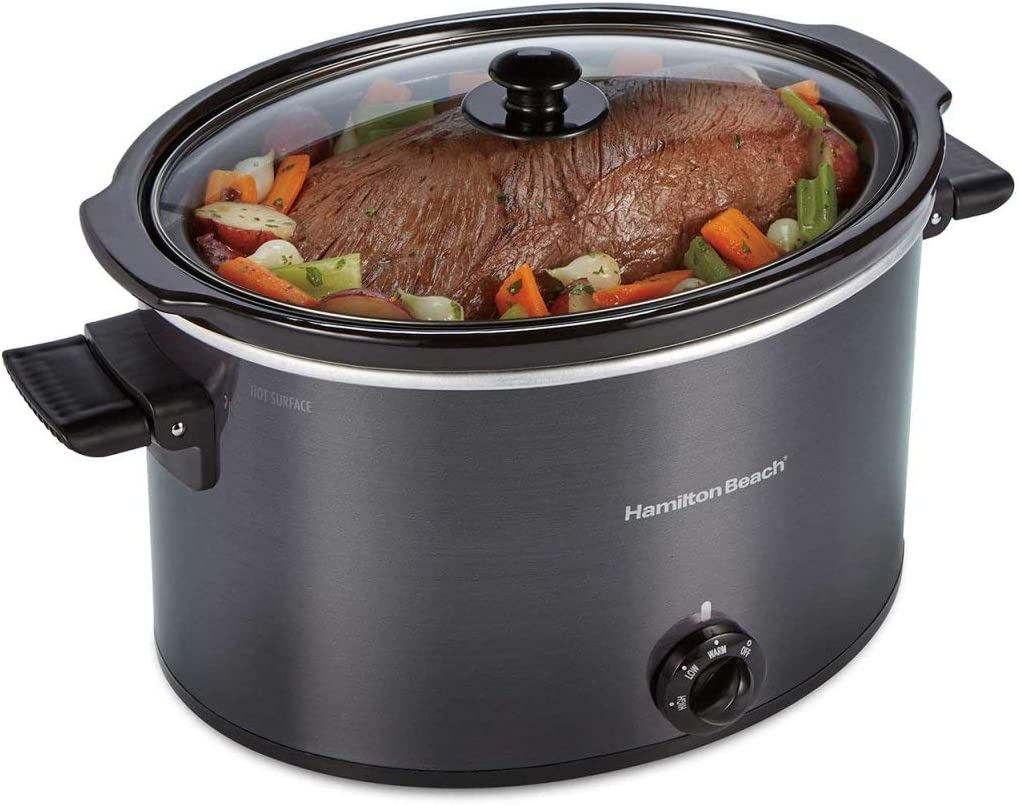Hamilton Beach 33191 BLK 10 qt Oval Slow Cooker