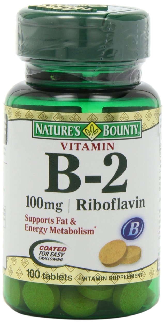 Nature's Bounty Vitamin B2, 100mg, 100 Tablets (Pack of 5)