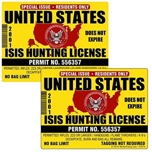 4 PACK Terrorist Hunting License
