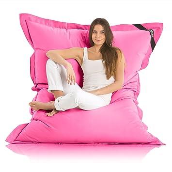 Lazy Bag Original Indoor & Outdoor Sitzsack XXL 400L Riesensitzsack  Sitzkissen Sessel für Kinder & Erwachsene 180x140cm (Pink)