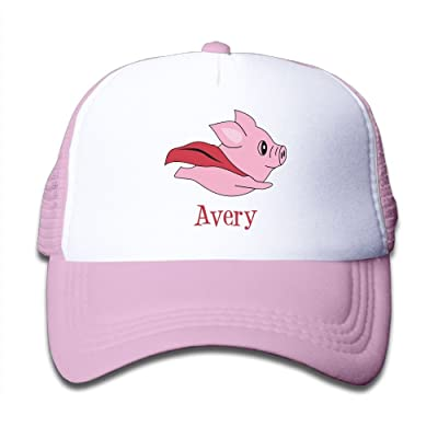 STY-LISH Flying Pigs Graphic Child Ideal Grid Cap Adjustable Cap Pink