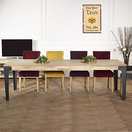 Robin Des Bois Table à Rallonges Bois Et Métal 260 Cm