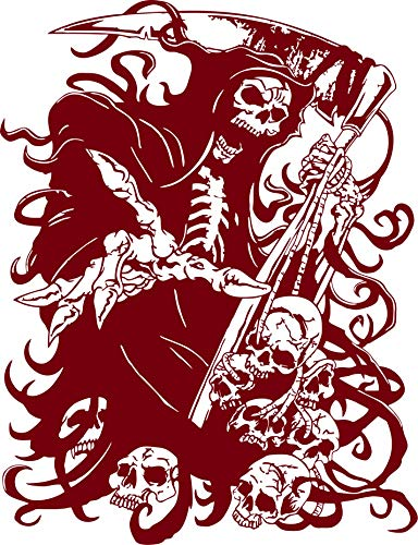 Grim Reaper Skull Skulls Scythe Blade Car Truck Window Vinyl Decal Sticker