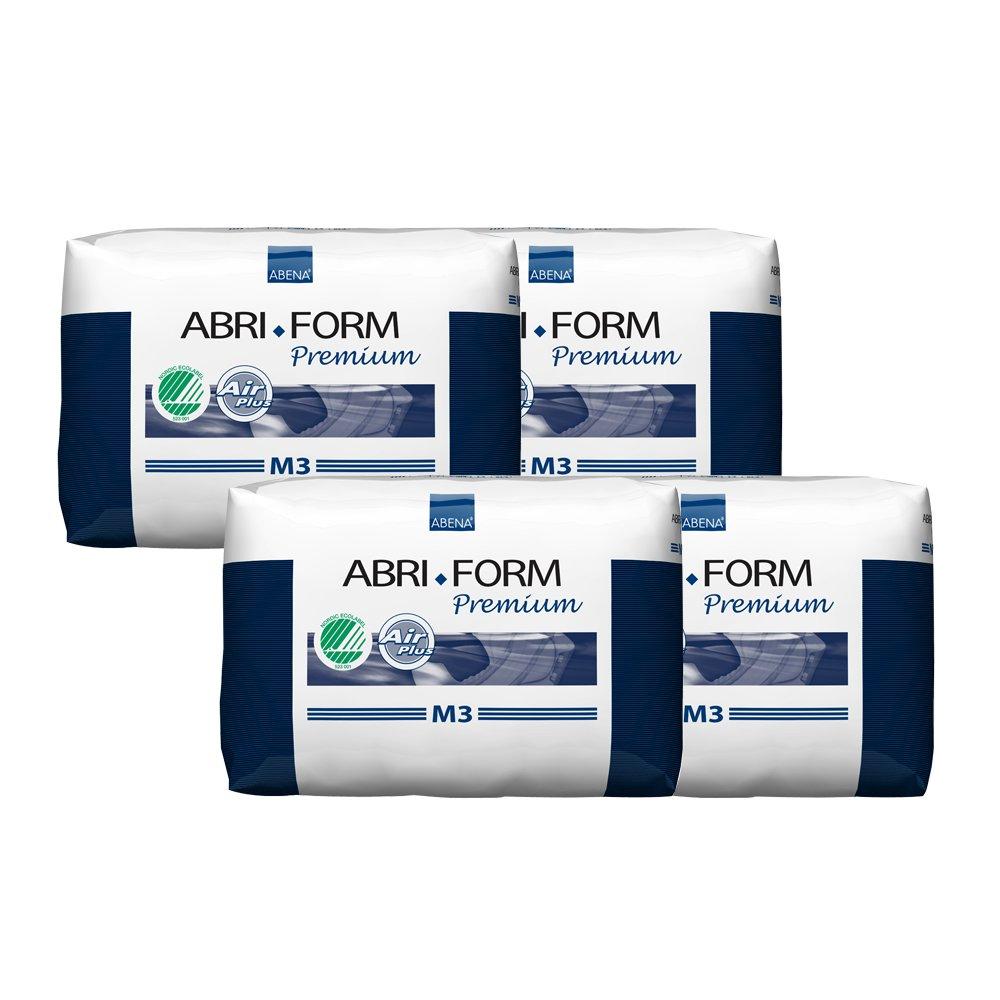 Abena Abri-Form Premium Incontinence Briefs, Medium, M3, 88 Count (4 Packs of 22)