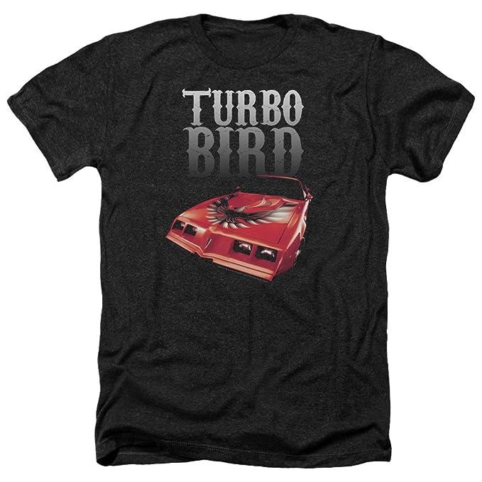 Pontiac Famous GM Automobiles Turbo Bird Firebird Logo Adult Heather T-Shirt Tee