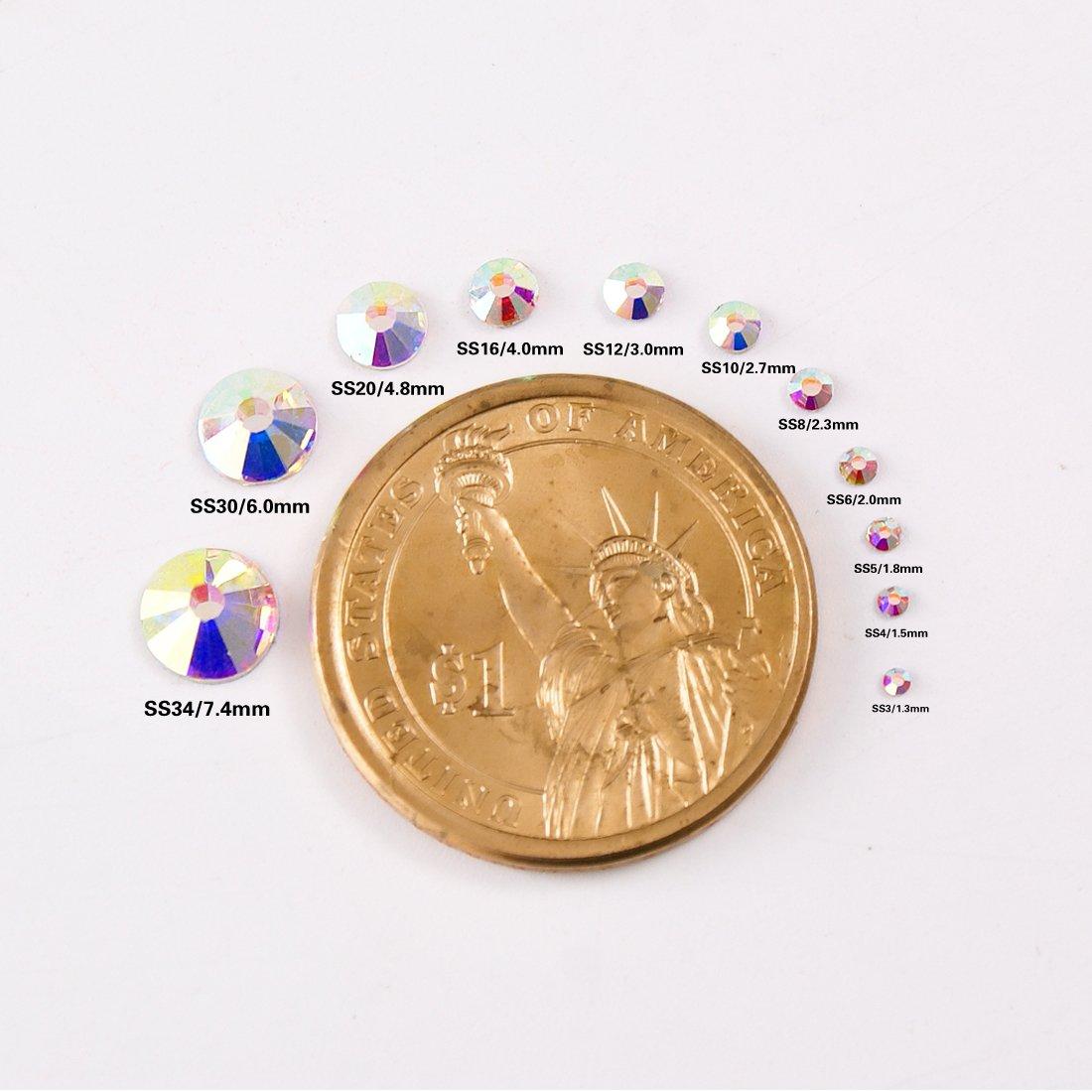 2592pcs 9 Sizes 3D Nail Art Flatback Crystals Rhinestones Round ... 6fd58b823d46