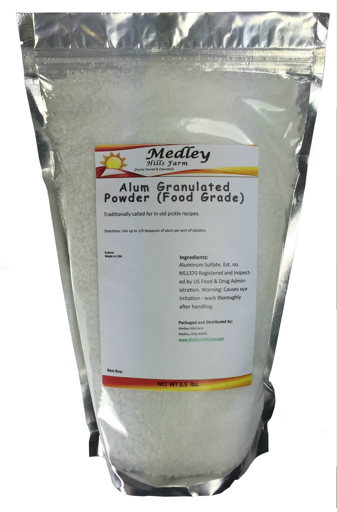 Medley Hills Farm Alum Granulated Powder (Food Grade) 3.5 lbs.