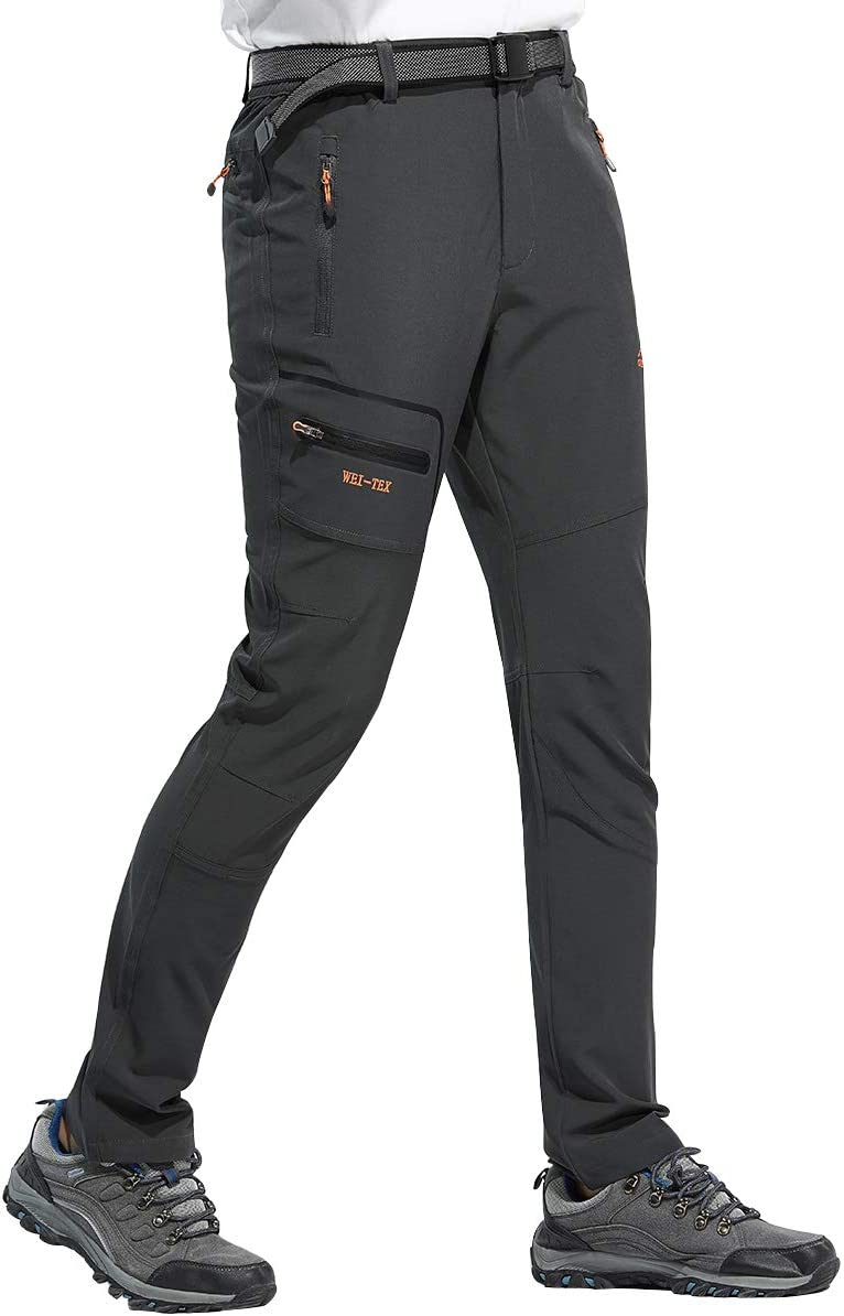 DAFENP Pantalones Trekking Hombre Impermeable