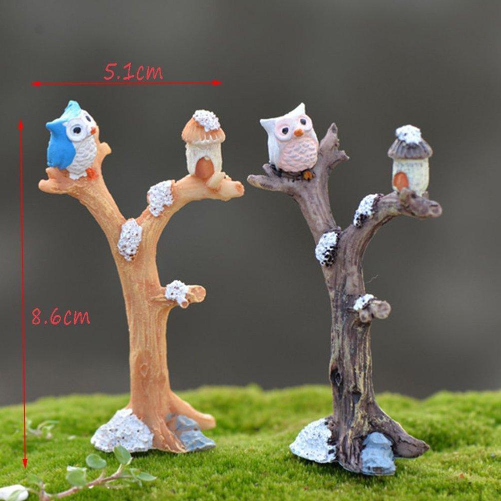 Stump stool Resin Miniature Figurine Garden Dollhouse Decor Micro Landscape FH