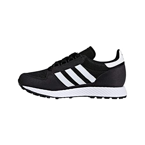 Amazon.com | adidas Originals Forest Grove J Black Synthetic Suede Youth Trainers Shoes | Shoes