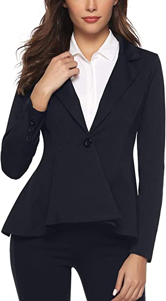 Aibrou Mujer Clásica Informal Blazer Ligero Frente Abierto ...