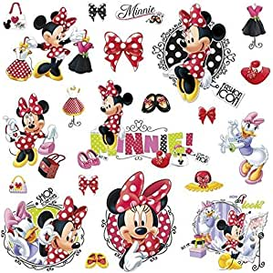 Minnie Loves To Shop Peel and Stick Wall Decals