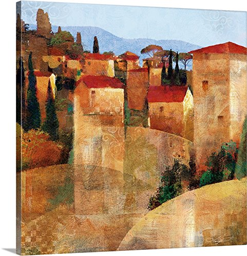 greatBIGcanvas Gallery-Wrapped Canvas entitled Tuscan Hillside by Keith Mallett (Tuscan Hillside Village)