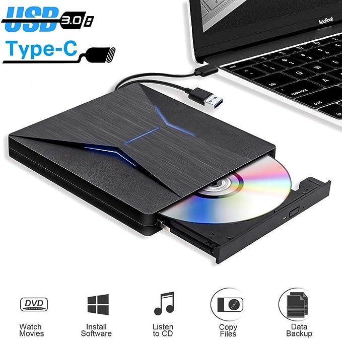 15 opinioni per PiAEK Masterizzatore CD Dvd Esterno USB 3.0 Portatile USB C Lettore Dvd Esterno