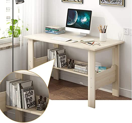Home Office Desktop Computer Desk Laptop Study Work Table Student Adults Household Multipurpose Computer Writing Notebook Desk Modern Simple Workstation Bedroom White