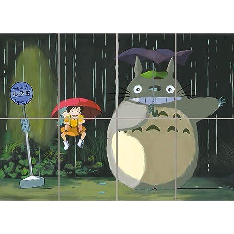 Amazon.com: Mi vecino Totoro Cartel – satsuke manga anime ...