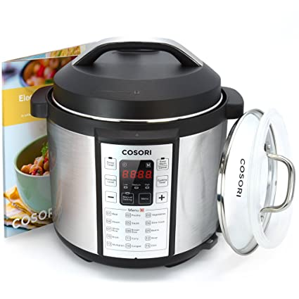 Cosori 7-in-1 Multi-Functional Pressure Cooker with Glass Lid and Sealing Ring