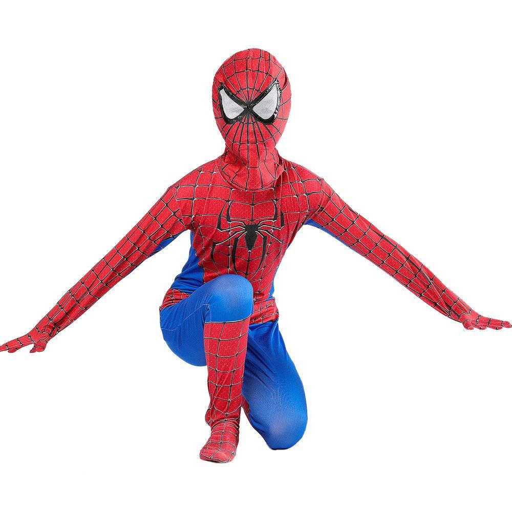 Amazing Spiderman Spandex Zentai Suit Cosplay Costume For Kids//Adult