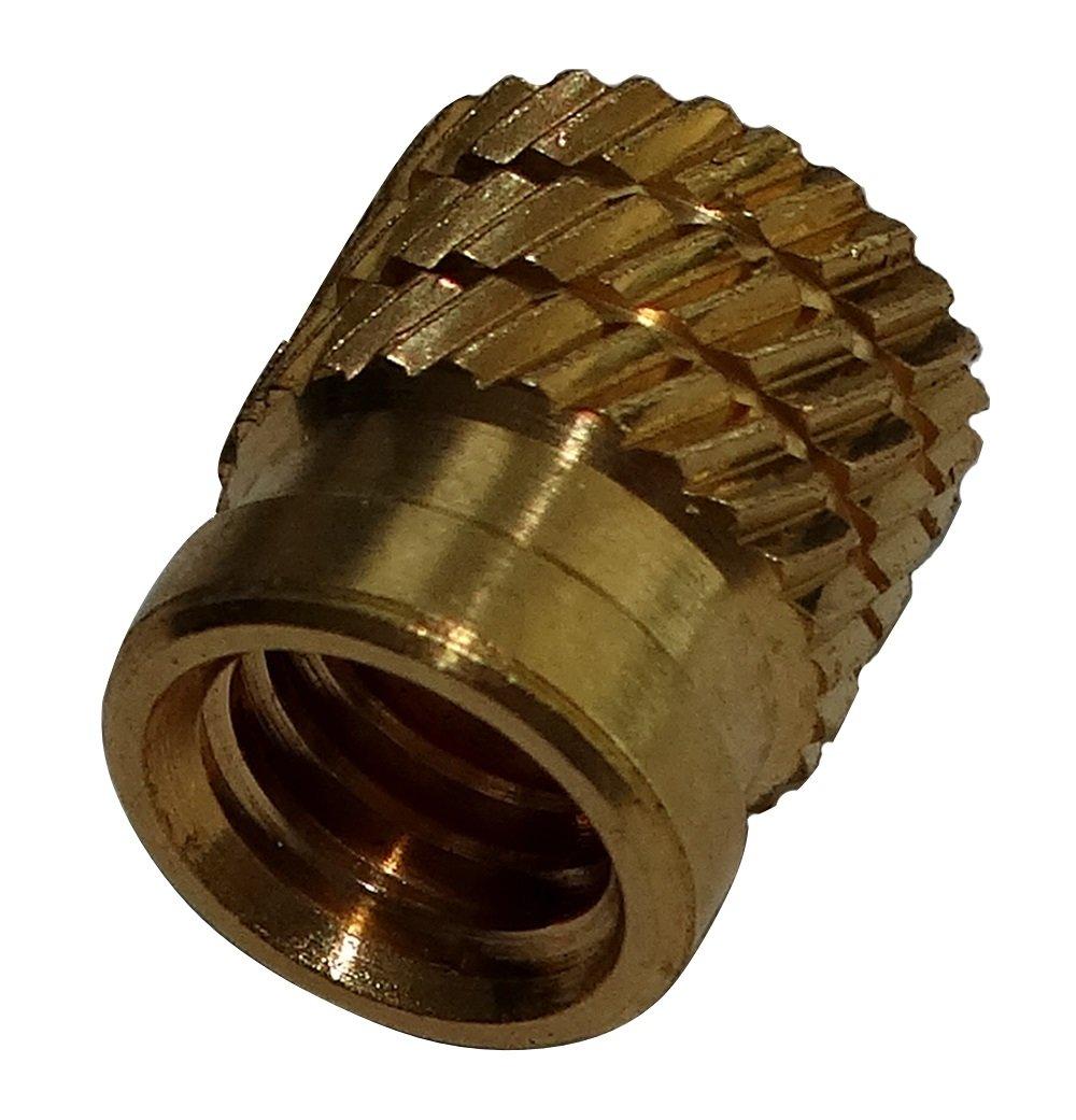AERZETIX 10x Tuercas insertos laton para plastico termoestable rosca M6 9.2mm C19256