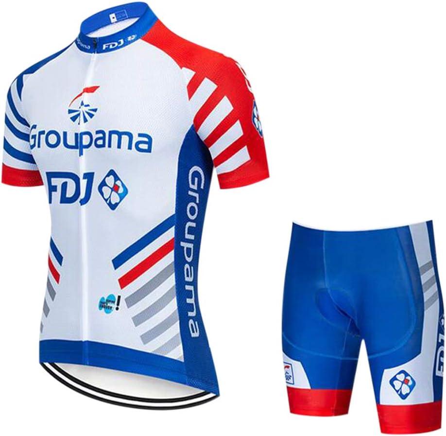 GWELL Conjunto Ropa Equipacion Traje Ciclismo de Hombre para Verano, Maillot Ciclismo Hombre & Culotte Ciclismo Culote Bicicleta: Amazon.es: Deportes y aire libre