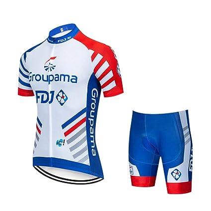 GWELL Conjunto Ropa Equipacion Traje Ciclismo de Hombre para ...