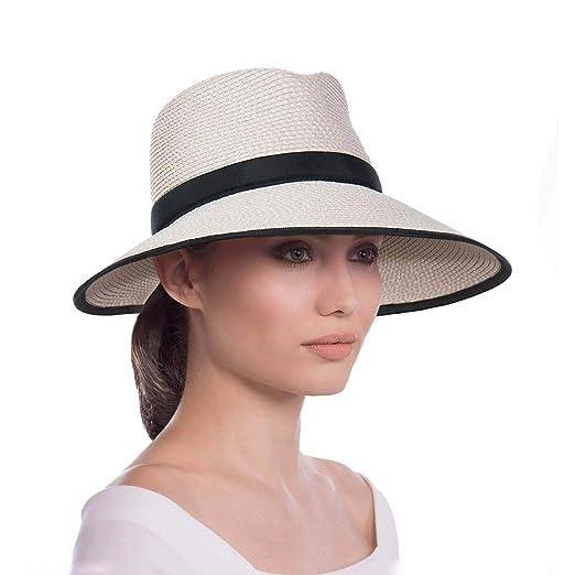 f1c0ca6c76c Eric Javits Luxury Women s Designer Headwear Hat - Sun Crest - Cream Black