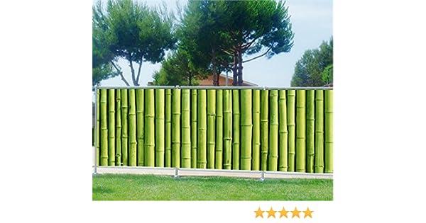 Malla de ocultación impresa para jardín, terraza o balcón, diseño decorativo de bambú, bambú, 100%, 200 x 78 cm: Amazon.es: Hogar