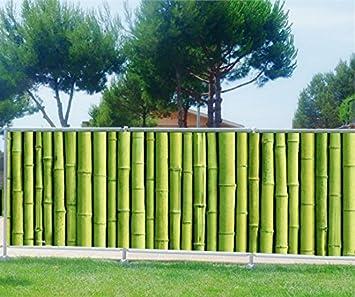 Amazon.de: Brise Vue bedruckt, Garten, Terrasse, Balkon Deko Bambus ...