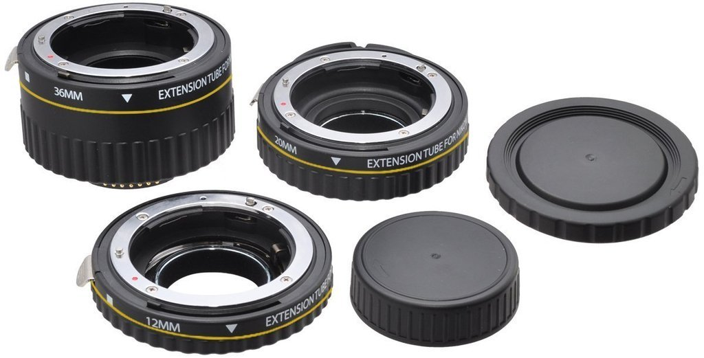 Macro Extension Tube Set for Nikon D3100, D3200, D3300 by 33rd Street (Image #1)
