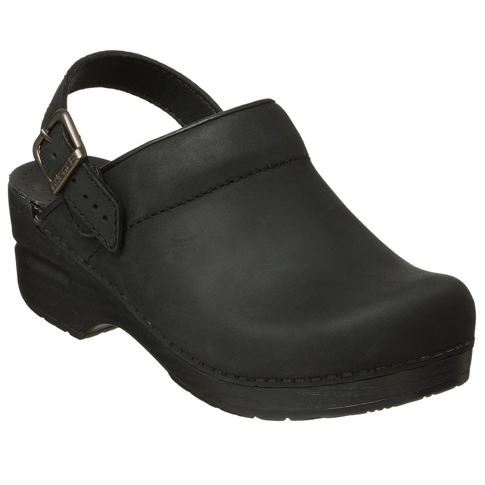 Dansko Ingrid Women Mules & Clogs Shoes, Black Oiled, Size - 38 by Dansko