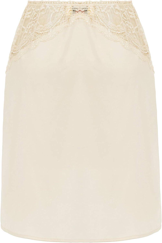 GRACE KARIN Women Lace Satin Half Slip Crinoline Underskirt Dress Extender