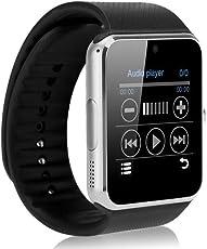 Reloj Celular Smartwatch Gt08 Cámara Bocina Microfono Android Negro Plata