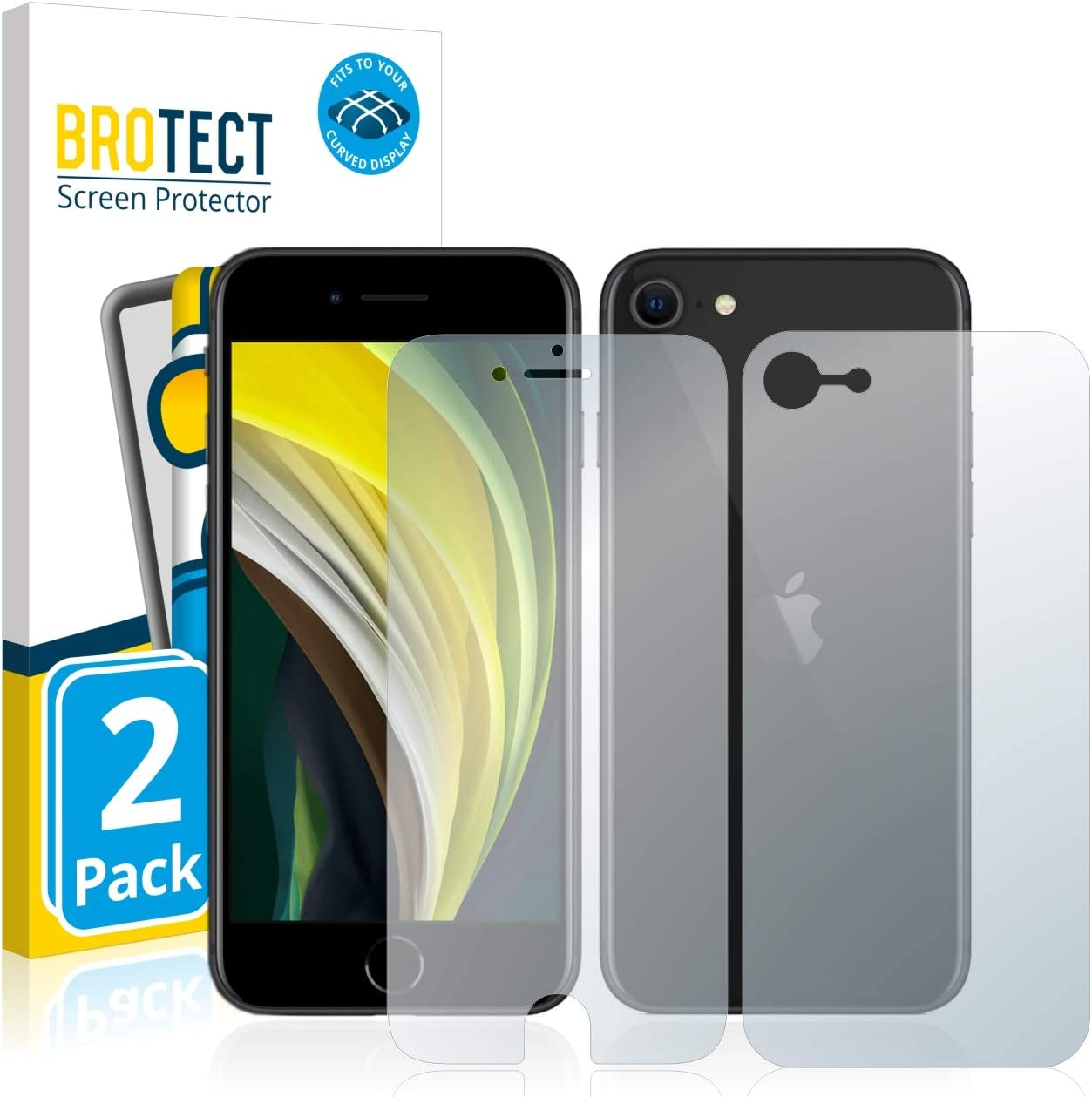 Conber 9H Duret/é Ultra-r/ésistant Film de Protection /écran pour iPhone SE 2020 // iPhone SE 2nd Generation sans Bulles 3 Pi/èces Verre Tremp/é pour iPhone SE 2020 // iPhone SE 2nd Generation,