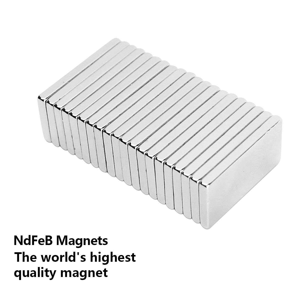 20X10X2mm 40PC Im/án de Neodimio,Super fuerte rect/ángulo im/án de tierras raras,Para la cocina 40PC Experimentos cient/íficos,dise/ño de DIY oficina
