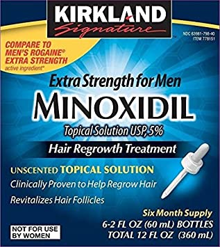 Minoxidil for Men 5 Minoxidil Hair Regrowth Treatment 12 Months Supply Unscented 1 Year