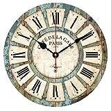 Cheap Coromose European Style Vintage Creative Round Quartz Wood Wall Clock