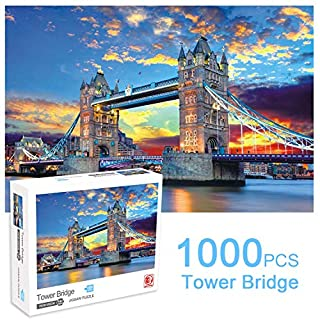Bestdon 1000 Piece Puzzles for Adults and Teen DIY Collectibles Home Decoration - Tower Bridge Jigsaw Puzzle