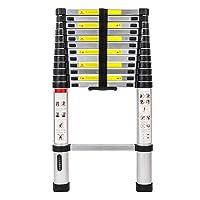 LUISLADDERS Aluminum Telescoping Telescopic Extension Ladder 330 Pound Capacity (12.5 Feet)