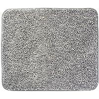 InterDesign Heathered Bathroom Rug – 21 x 17, Gray 21 x 17, Small