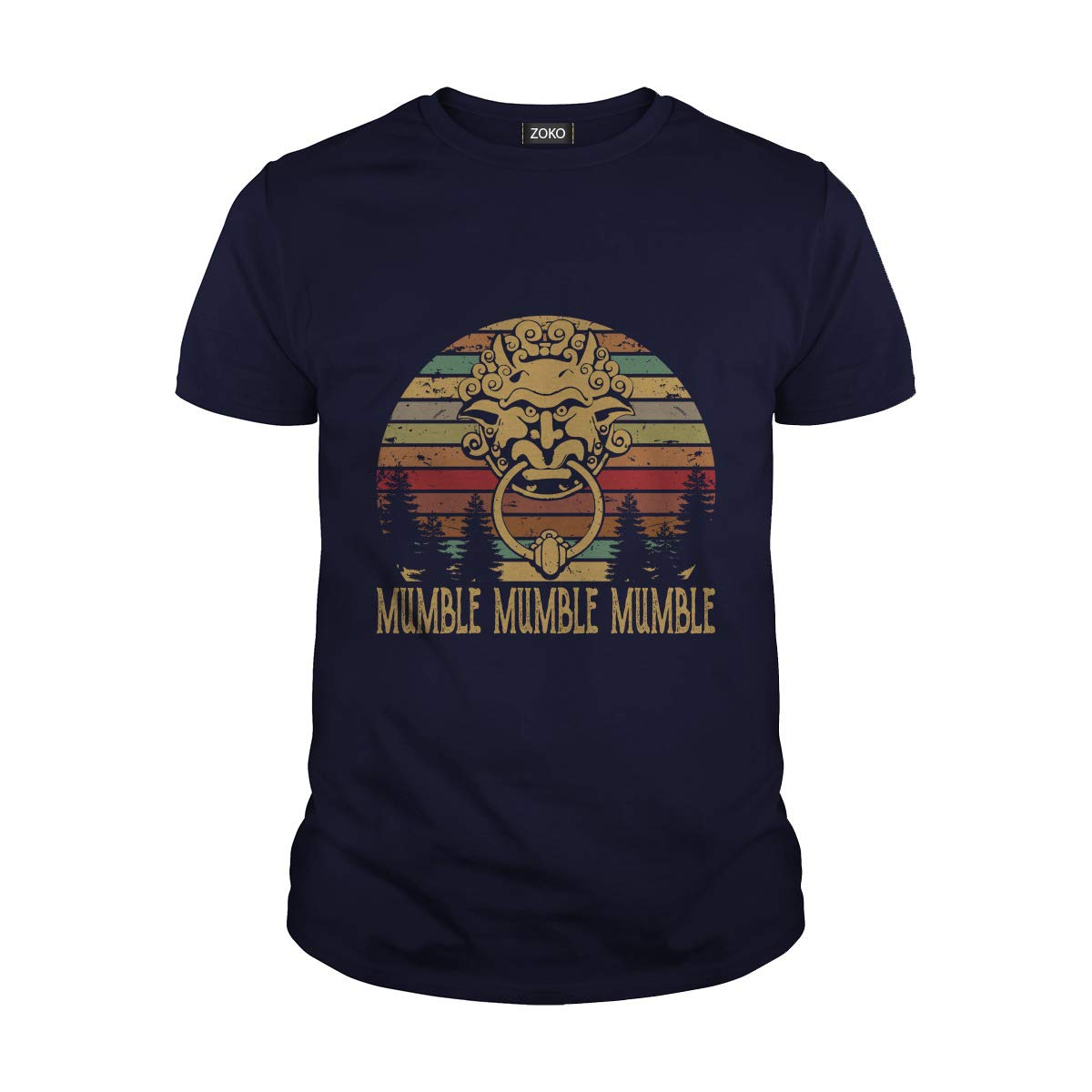 Guys Tee Navy Medium Zoko Apparel Mumble Mumble Mumble TShirt