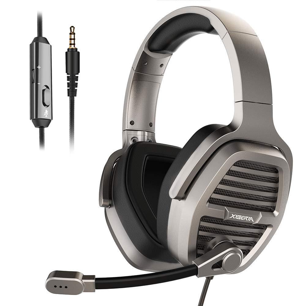 GAKOV Haolide GAK3 Cool RGB Light Metal Iron Mesh Gaming Headset HD Clear Hose Microphone Gaming Headphones Soft Memory Earmuffs for Laptop//Mac//Computer//PS4 K3 40mm Super Bass Speakers