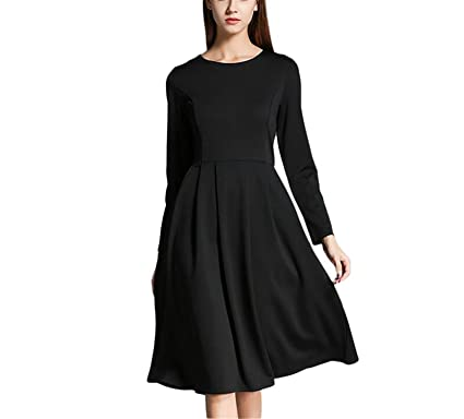 86f7eb2b6a9 B dressy black o neck sexy women dress autumn long sleeve casual a line  bodycon dresses