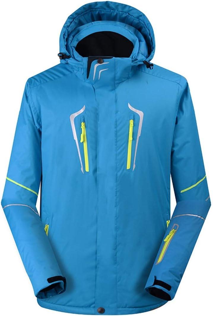 Wazenku メンズ防風防水多目的スキースノーボードジャケットマウンテンレインジャケット (色 : ライトブルー, サイズ : S) ライトブルー Small