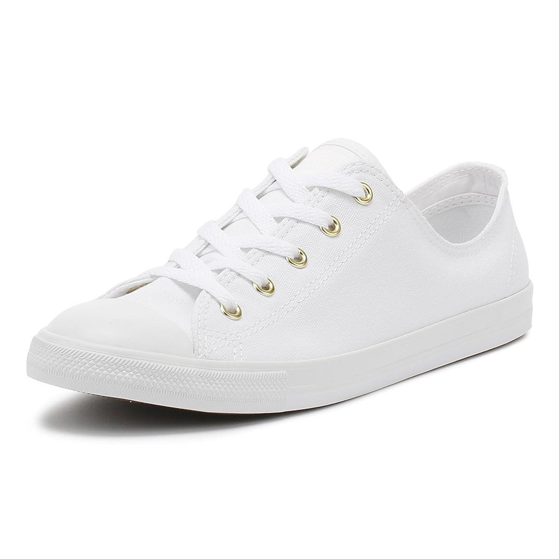 Converse Damen Chuck Taylor CTAS Dainty OX Sneakers Weiß(White/White/Gold 102)