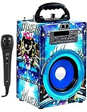Altavoz Karaoke Bluetooth Portátil Radio/ FM/MP3 Inalámbrico Recargable con USB Luz LED Modo ROCK CLASSIC JAZZ