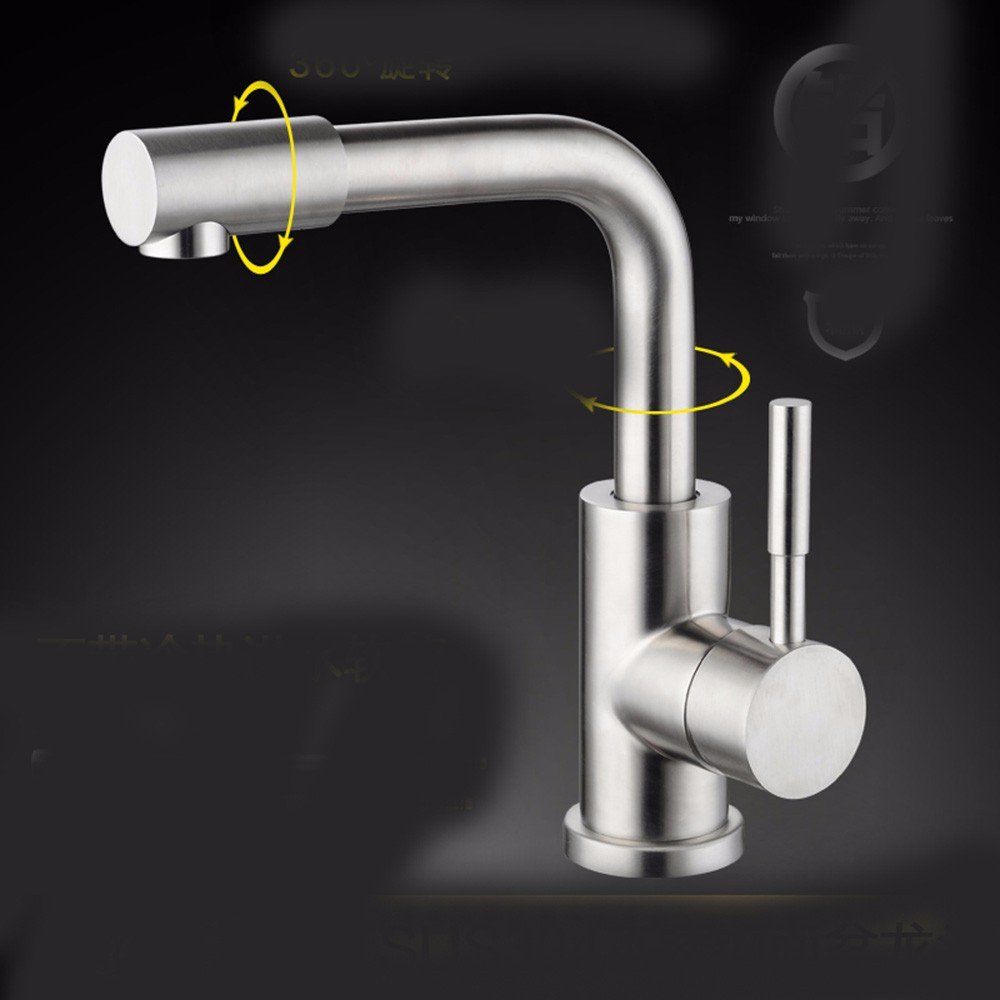 10 Hlluya Professional Sink Mixer Tap Kitchen Faucet 304 Stainless Steel, washing your face, hot and cold water, sanitation, redation, sink and faucet