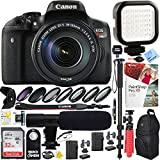 Canon EOS Rebel T6i Digital SLR Camera w/EF-S 18-135mm IS STM Lens Kit (0591C005) with 32GB SDXC Dual Battery & Shotgun Mic Pro Mobile Video Bundle