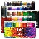 160アート色鉛筆、ソフトコアカラー鉛筆セットfor Adult Coloring Books ARTIST図面スケッチCraftingの商品画像