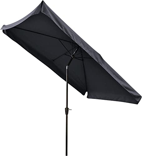 Yescom 10×6.5ft 2x3m Rectangle Aluminum Outdoor Patio Umbrella